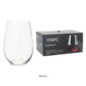 HARMONY STEMLESS R/WINE S/6 580ML